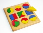 Puzzle Geometri Pecahan Kotak Timbul