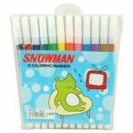 Spidol 12 Warna Snowman
