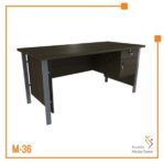 Meja Kerja Office Table 1/2 Biro Tipe B Orbit Trend (Brown Beech)