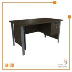 Meja Kerja Office Table 1 Biro Tipe A Orbit Trend (Brown Beech)