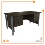 Meja Kerja Office Table 1 Biro Tipe B Orbit Trend (Brown Beech)