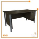 Meja Kerja Office Table 1 Biro Tipe C Orbit Trend (Brown Beech)