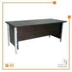 Meja Kerja Executive Office Table Orbit Trend (Brown Beech)